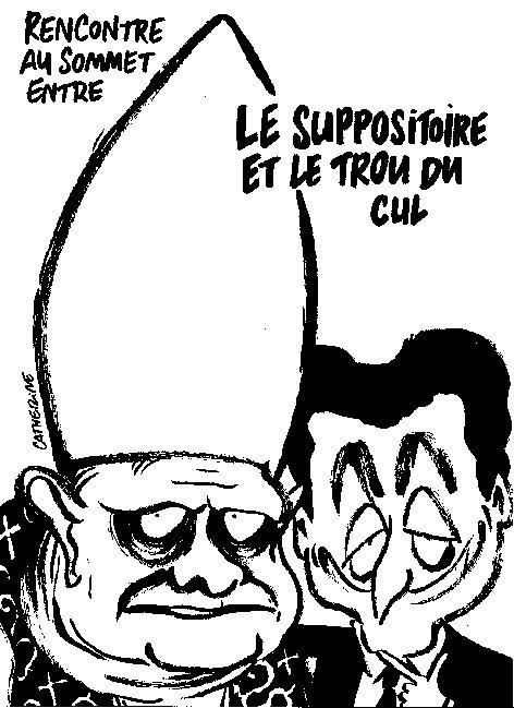 Sarkozy reçoit le pape